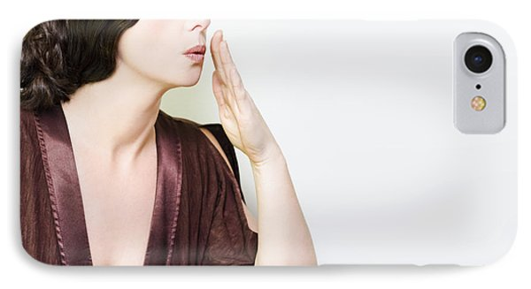 Person Whispering A Secret Over White IPhone Case by Jorgo Photography - Wall Art Gallery