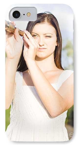 Person With Monocular IPhone Case by Jorgo Photography - Wall Art Gallery