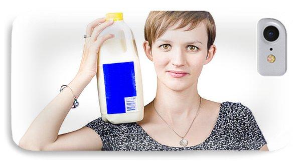 Person With Organic Farm Fresh Milk IPhone Case
