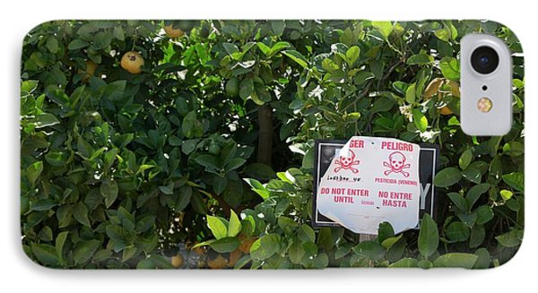 Pesticide Warning Sign IPhone Case by Jim West