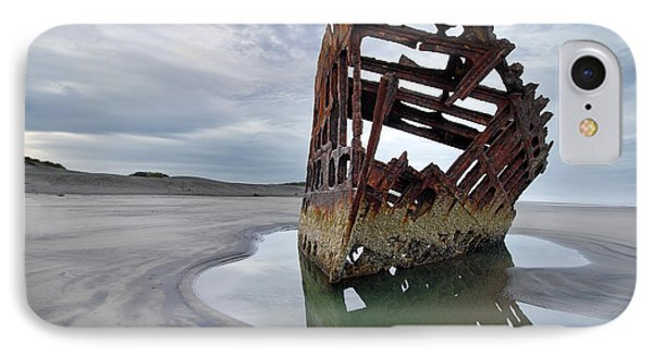 Peter Iredale At Dawn Phone Case by David Gn