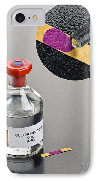 Ph Of Concentrated Sulphuric Acid IPhone Case by Martyn F. Chillmaid