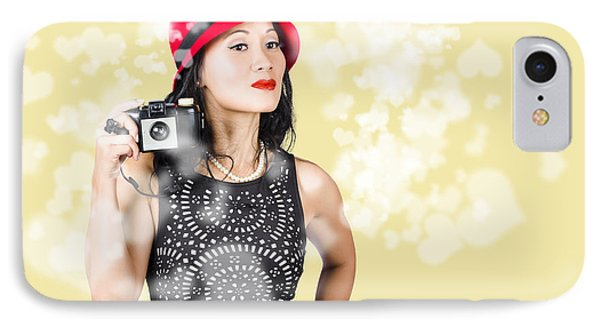 Photographer Taking Photos With Retro Film Camera IPhone Case by Jorgo Photography - Wall Art Gallery