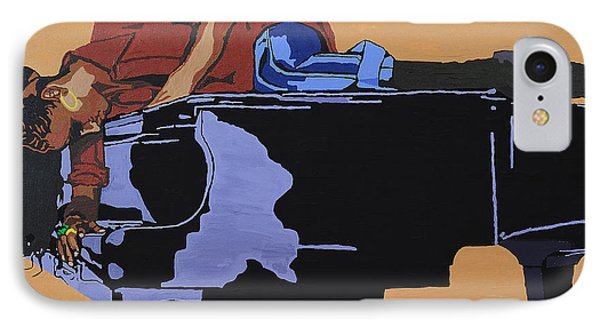 IPhone Case featuring the painting Piano And I by Rachel Natalie Rawlins