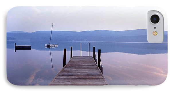 Pier, Pleasant Lake, New Hampshire, Usa IPhone Case by Panoramic Images