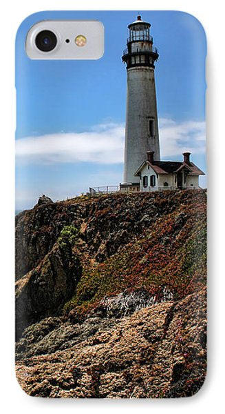 Pigeon Point Lighthouse IPhone Case by Judy Vincent