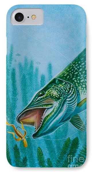 Pike And Jig Phone Case by Jon Q Wright