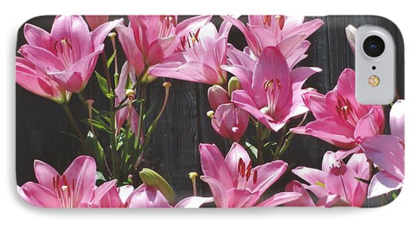 IPhone Case featuring the photograph Pink Asiatic Lilies by Rod Ismay