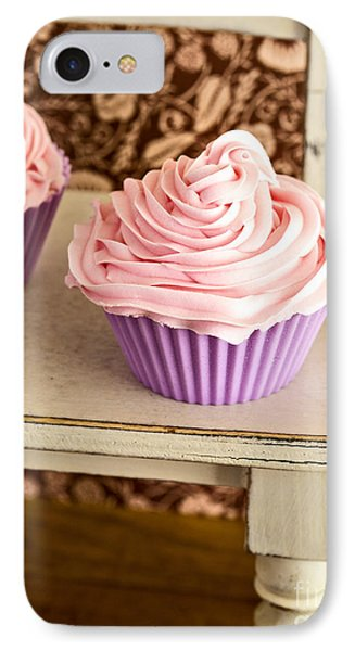 Pink Cupcakes IPhone Case by Edward Fielding
