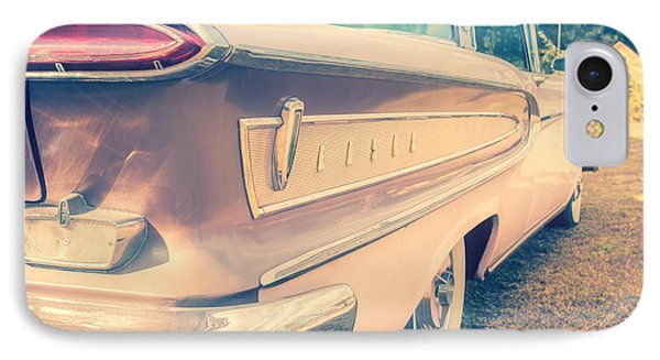 Pink Ford Edsel  IPhone Case by Edward Fielding