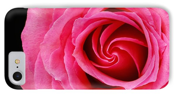 Pink Rose  IPhone Case by Jim Hughes