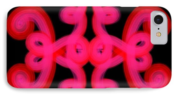 IPhone Case featuring the digital art Pink Scroll by Christine Fournier