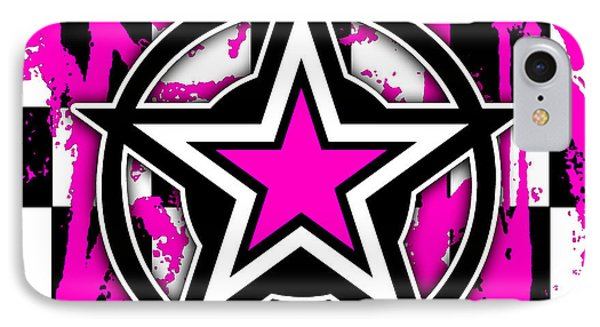 Pink Star Checkerboard IPhone Case