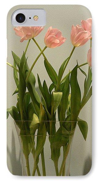 Pink Tulips IPhone Case by Karen Nicholson