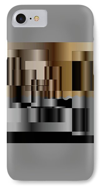IPhone Case featuring the digital art Pipes by Iris Gelbart