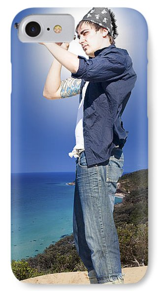 Pirate With Spyglass IPhone Case by Jorgo Photography - Wall Art Gallery