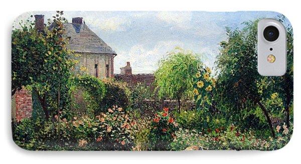 Pissarro's The Artist's Garden At Eragny IPhone Case by Cora Wandel