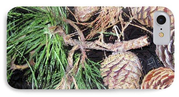 Pitch Pine Cone IPhone Case by Susan Carella