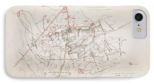 Plan Of The Battle Of Waterloo IPhone Case