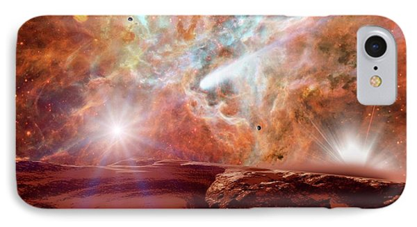 Planet Forming In A Nebula IPhone Case