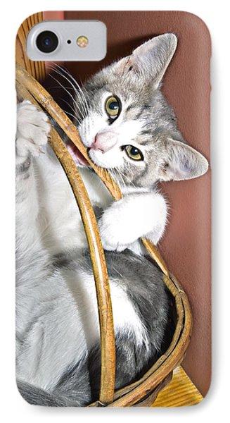 Playful Kitten Phone Case by Susan Leggett