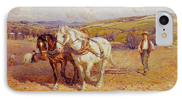 Ploughing IPhone Case by Joseph Harold Swanwick