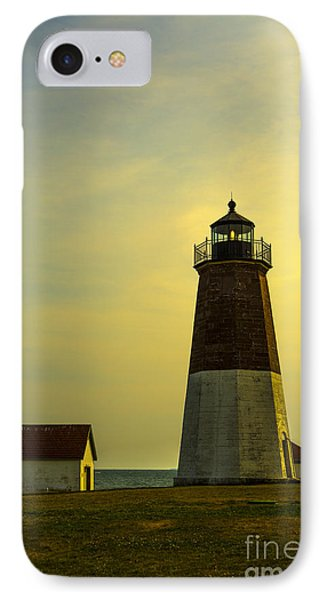 Point Judith Lighthouse IPhone Case by Diane Diederich
