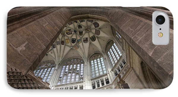pointed vault of Saint Barbara church IPhone Case