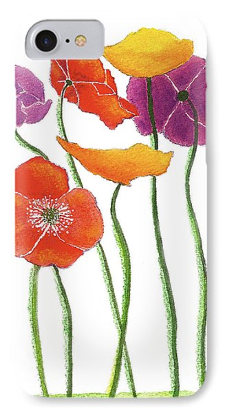 IPhone Case featuring the painting Poppies A Plenty by Nan Wright