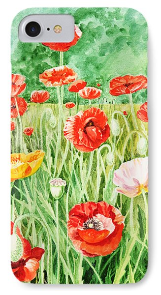 Poppies Phone Case by Irina Sztukowski
