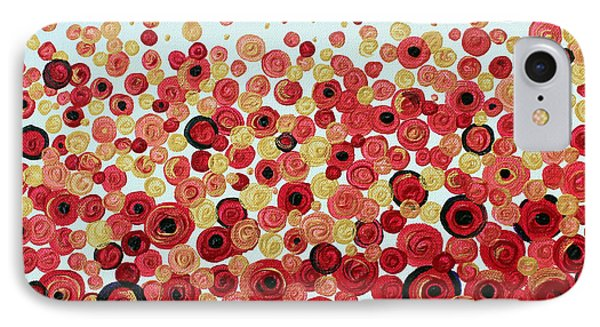 IPhone Case featuring the painting Poppies by Stacey Zimmerman
