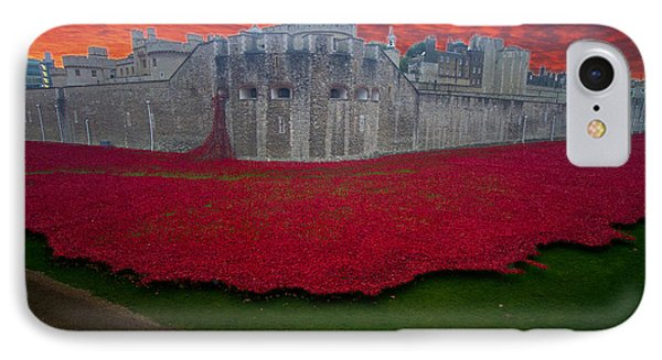 Poppies Tower Of London IPhone Case by David French