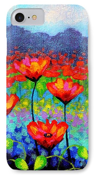 Poppy Vista IPhone Case by John  Nolan
