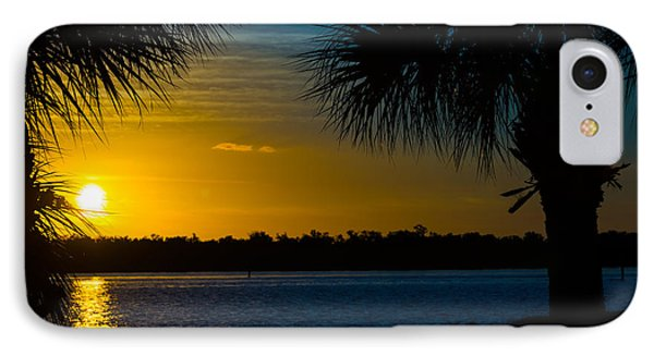 Port Charlotte Beach Sunset In January Phone Case by Anne Kitzman