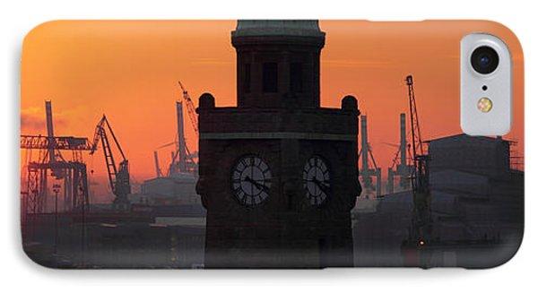 Port Of Hamburg Sunset IPhone Case