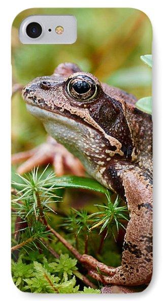 Portrait Of A Frog Phone Case by Jouko Lehto
