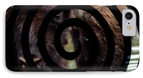 Portrait Of Bison IPhone Case