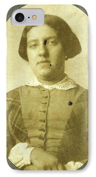 Portrait Of Charlotte Asser, Eduard Isaac Asser IPhone Case by Artokoloro
