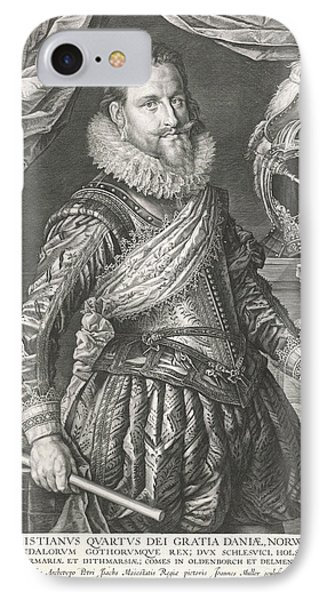 Portrait Of King Christian Iv Of Denmark And Norway IPhone Case