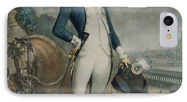 Portrait Of The Marquis De La Fayette IPhone Case by Philibert-Louis Debucourt