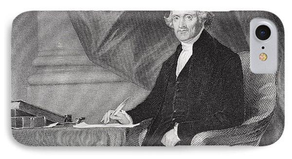 Portrait Of Thomas Jefferson Phone Case by Alonzo Chappel