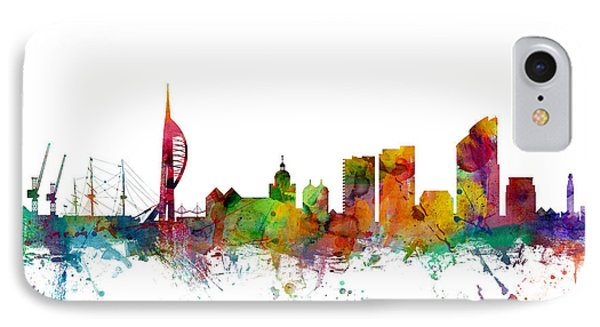 Portsmouth England Skyline IPhone Case