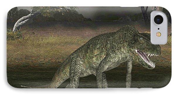 Postosuchus Dinosaur IPhone Case by Friedrich Saurer