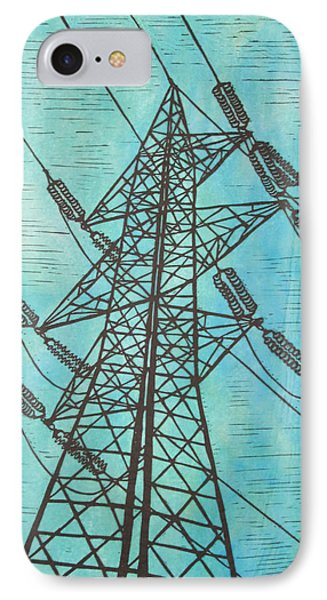 IPhone Case featuring the drawing Power by William Cauthern