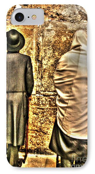 IPhone Case featuring the photograph Praying At The Western Wall by Doc Braham
