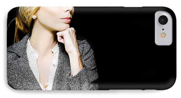 Preoccupied Beautiful Business Woman IPhone Case by Jorgo Photography - Wall Art Gallery