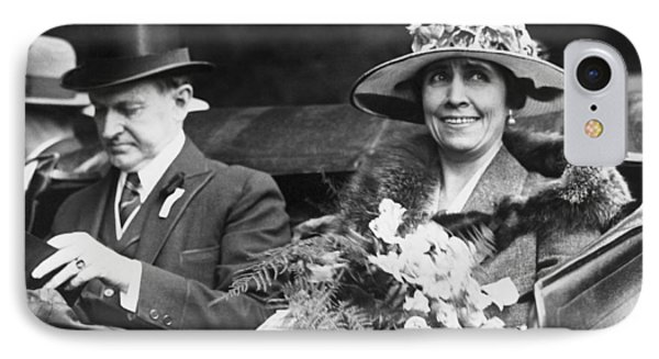 President And Mrs. Coolidge IPhone Case by Underwood Archives