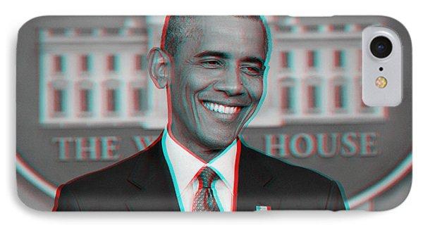 President Barack Obama In 3d IPhone Case