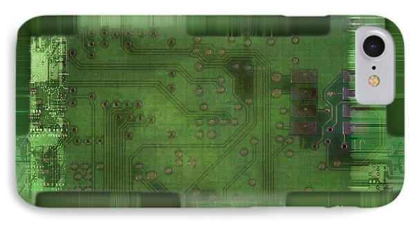 Printed Circuit - Motherboard IPhone Case by Michal Boubin