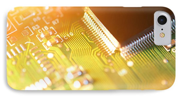 Processor Chip On Circuit Board Phone Case by Konstantin Sutyagin